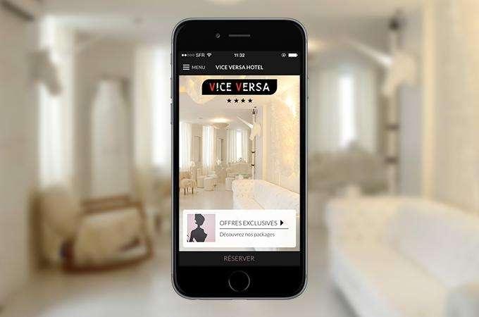Restez connecté grâce aux applications mobiles de l'hôtel Vice Versa