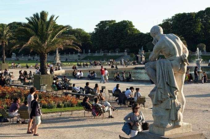 Paris Luxembourg garden - breath-taking near the Palais du Luxembourg
