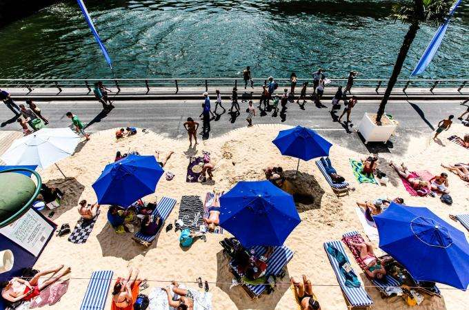 Dip your toes in the water at Paris Plage