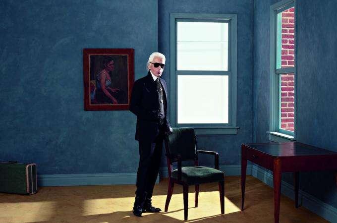 Karl Lagerfeld at the Pinacoteca