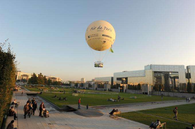 Aboard a Balloon in Paris
