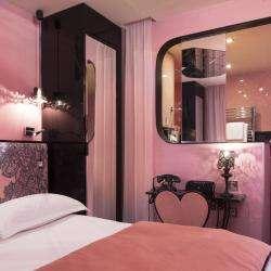 Vice Versa Hôtel Paris - chambre - luxure - salle de bain ouverte